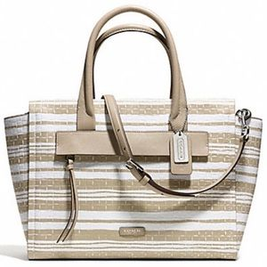 NWT Coach Bleecker Embossed Woven Carryall Bags